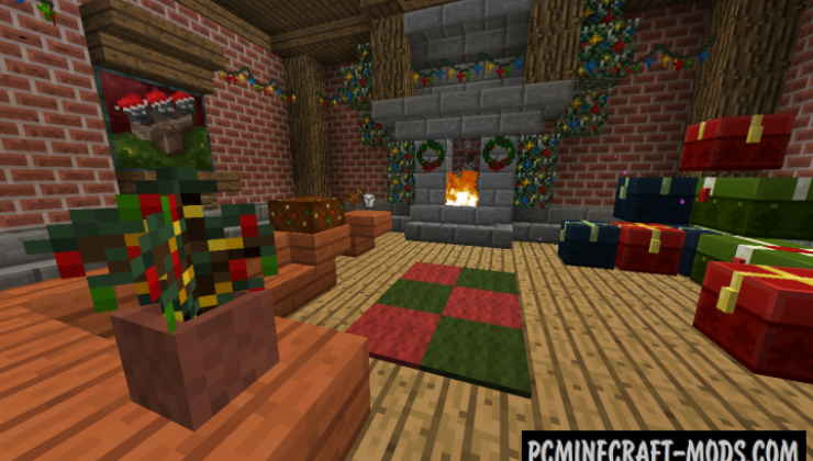 Default-Style Christmas Pack Resource Pack For Minecraft 1.12.2, 1.11.2, 1.10.2