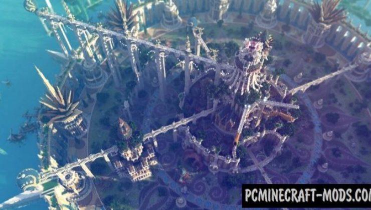 Aman, The immortal lands - Castle Map Minecraft