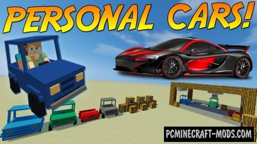 Personal Cars - Vehicle Mod For Minecraft 1.12.2, 1.11.2, 1.10.2