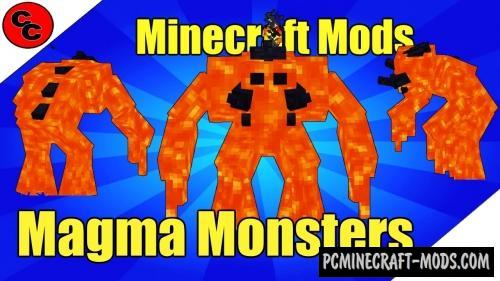 Magma, Lava Monsters Mod For MC 1.15.2, 1.14.4, 1.12.2