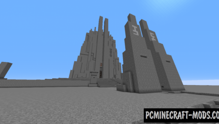 The Monolith - Castle, Building Map For Minecraft