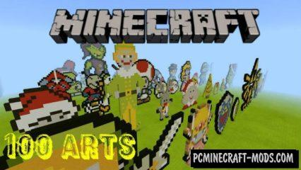 100 Arts From Dandy Console Minecraft Map 1.2.9, 1.2.8