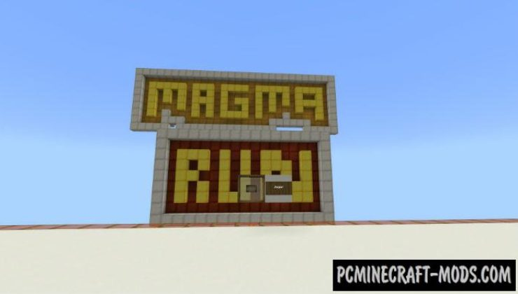 Magma Run Tower - Minigame Minecraft PE Map 1.4.0, 1.2.13