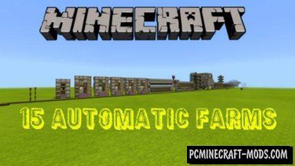 15 Automatic Farms Minecraft PE Bedrock Map 1.2.9, 1.2.8