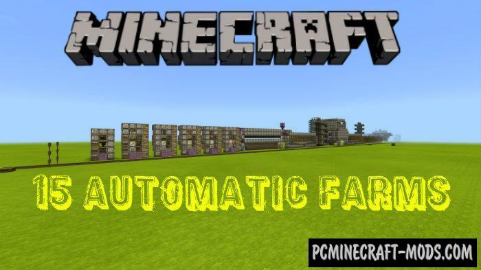 15 Automatic Farms - Redstone Minecraft PE Map 1.16, 1.14