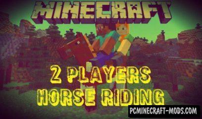 2 Players Horse Riding Minecraft PE Mod / Addon 1.2.8, 12.9