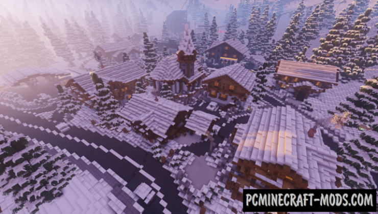 Realistic Ski-Resort Map For Minecraft