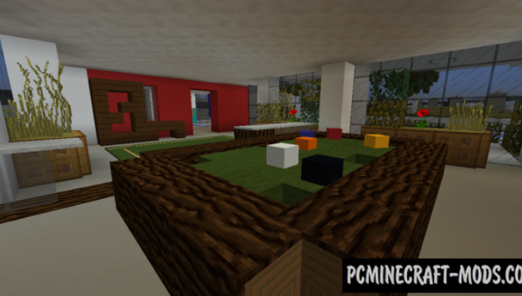 Functional Modern House Map For Minecraft
