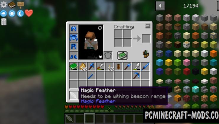 Magic Feather - Magic Item Mod For MC 1.16.5, 1.15.2, 1.12.2