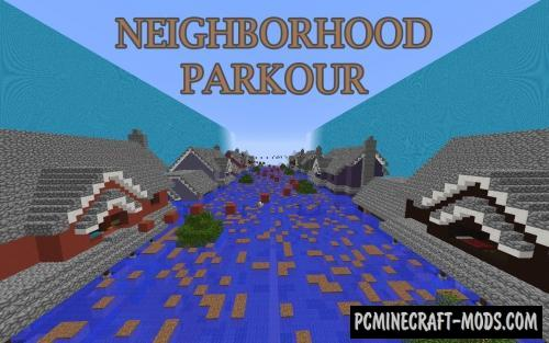 Neighborhood Parkour Map For Minecraft