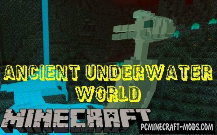 Ancient Underwater World Mod For Minecraft PE 1.9.0, 1.8.0