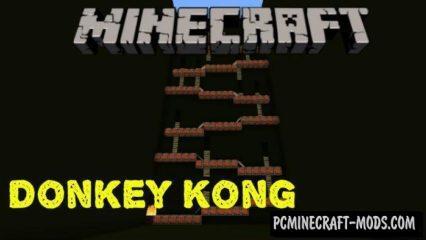Donkey Kong MCPE Bedrock Edition Map 1.2.9, 1.2.8