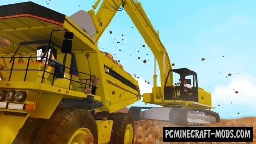 Heavy Machinery - Vehicle Mod For Minecraft 1.12.2, 1.8.9