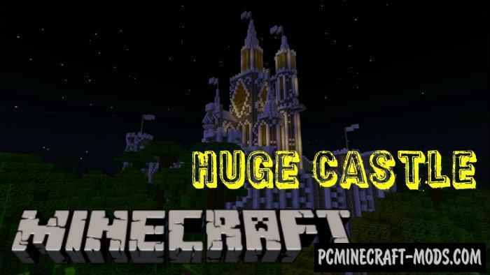 Huge Castle Minecraft PE Bedrock Map 1.5.0, 1.4.0