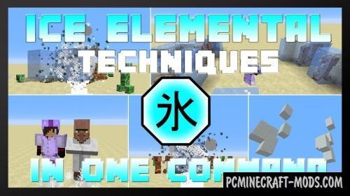 Ice Elemental Techniques Command Block For MC 1.12.2