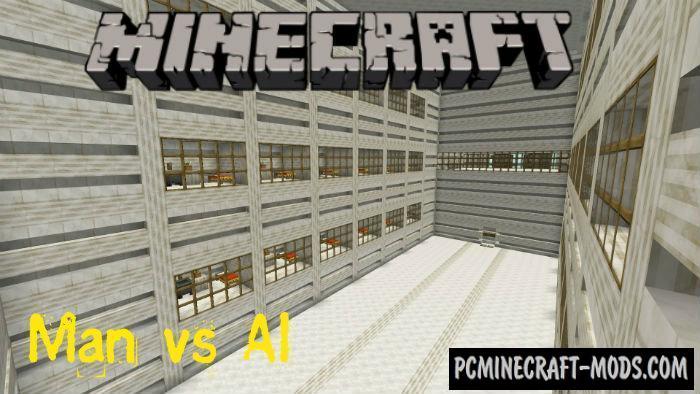 Man vs AI Minecraft PE Bedrock Edition Map 1.5.0, 1.4.0