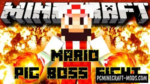 Mario Pig Boss Fight Map For Minecraft