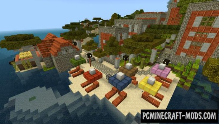 Modern Village on Island Minecraft PE Map 1.4.0, 1.2.13