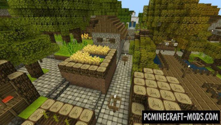 Modern Village on Island Minecraft PE Bedrock Map 1211 1210