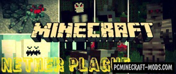Nether Plague Minecraft PE Bedrock Mod / Addon 1.2.11, 1.2.10