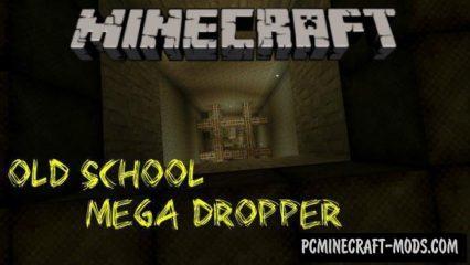 Old School Mega Dropper Minecraft PE Map 1.2.9, 1.2.8