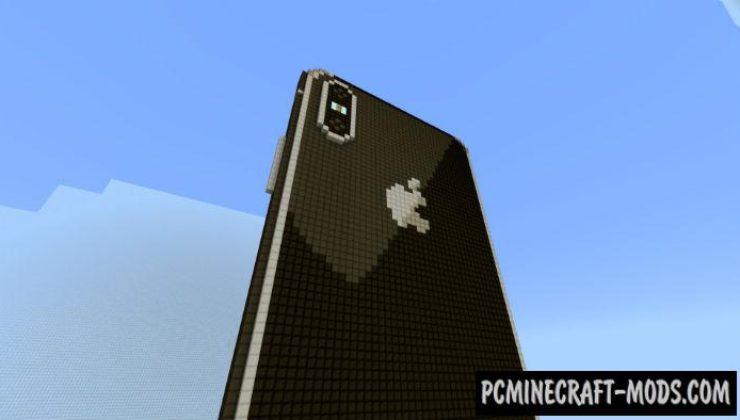 iPhone X - Redstone Minecraft PE Map 1.5.0, 1.4.0, 1.2.13