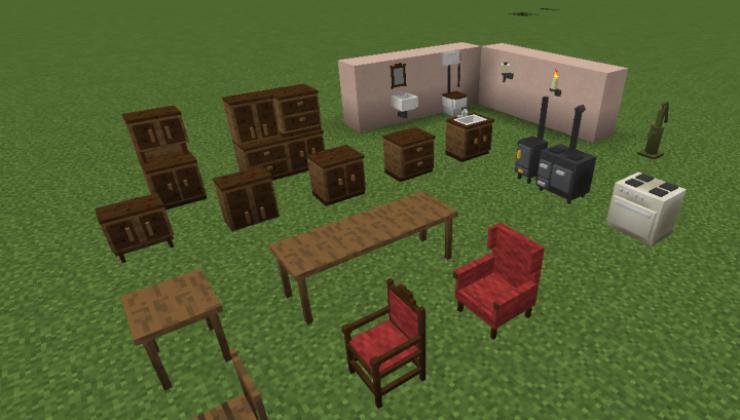 Landlust - Furniture Mod For Minecraft 1.12.2, 1.10.2