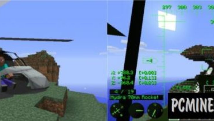 MC Helicopter - Vehicle Mod For Minecraft 1.7.10