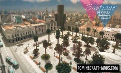 Santiago de Chile Map For Minecraft