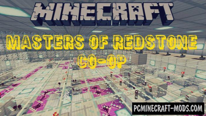 Masters Of Redstone Co-op Puzzle Minecraft PE Map 1.5.0, 1.4.0