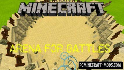 PvP Arena for Battles Minecraft PE Bedrock Map 1.3.0, 1.2.10