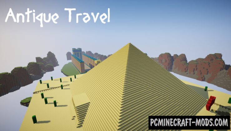 Antique Travel Map For Minecraft