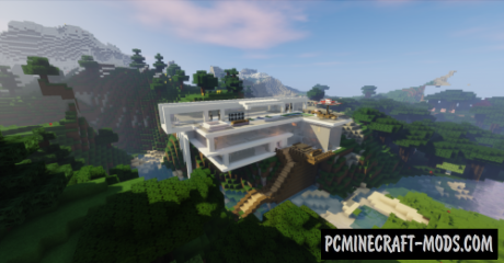 Mountain Mansion Map For Minecraft