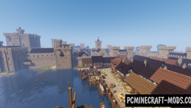 Medieval Castle and Town Map For Minecraft