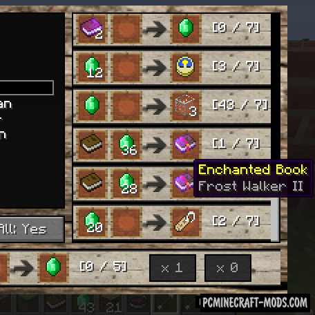 Villager Market Mod For Minecraft 1.12.2, 1.11.2, 1.10.2