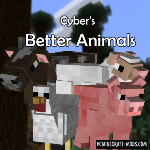 Better Animal Models Mod For Minecraft 1.12.2, 1.10.2
