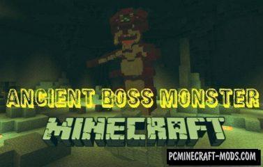 Ancient Boss Monster Minecraft PE Bedrock Mod 1.11, 1.10, 1.9.0