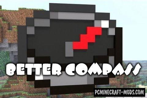 Better Compass Mod For Minecraft 1.13.2, 1.12.2
