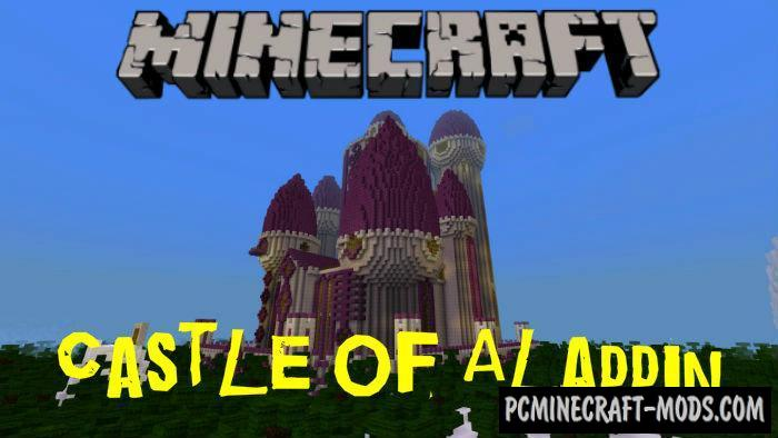 Castle Of Aladdin Minecraft PE Bedrock Map 1.5.0, 1.4.0, 1.2.13