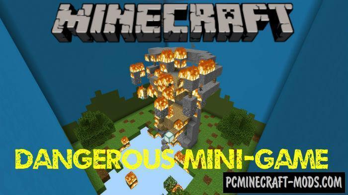Dangerous Mini-Game Minecraft PE Map 1.3, 1.2.11, 1.2.10