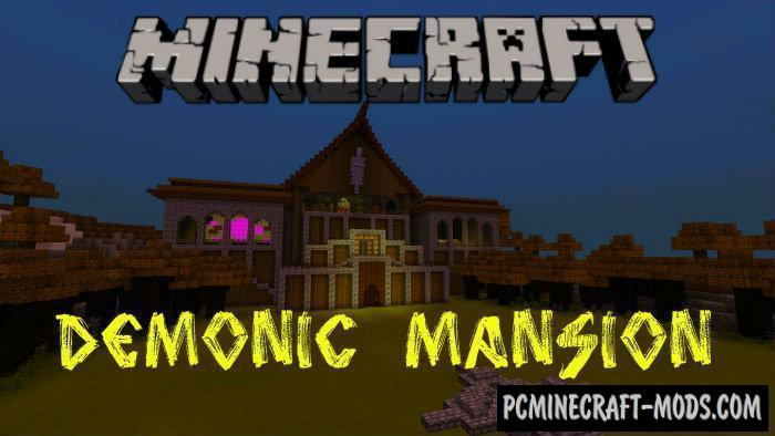 Demonic Mansion Adventure Minecraft PE Map 1.15, 1.14