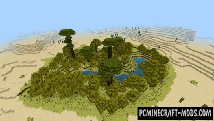 Desert Oasis For Survival Minecraft PE Bedrock Map 1.4, 1.3.0