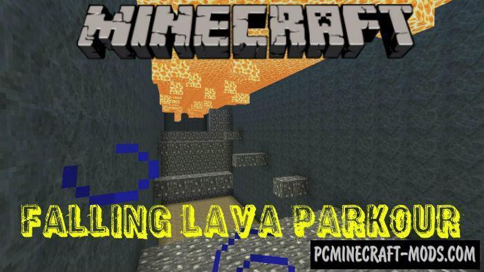 Falling Lava Parkour Minecraft PE Bedrock Map 1.4.0, 1.3, 1.2.13