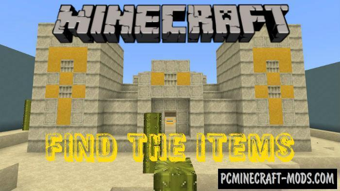 Find The Items Mini-Game Minecraft PE Bedrock Map 1.5.0, 1.4.0