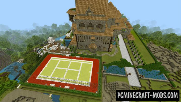 Modern Castle Minecraft PE Bedrock Map 1.9, 1.8, 1.7