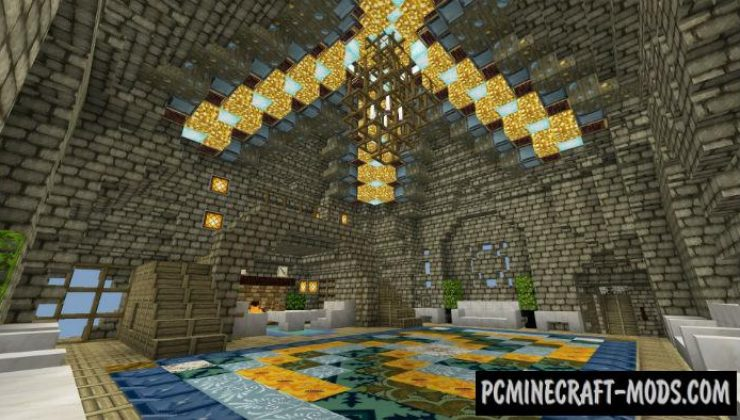 Modern Castle Minecraft PE Bedrock Map 1.15, 1.14