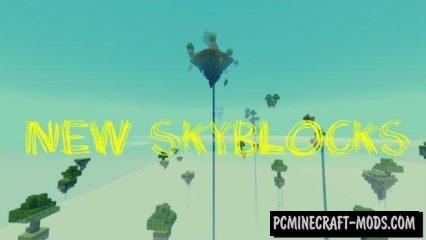 New SkyBlocks Minecraft PE Bedrock Map 1.3.0, 1.2.10