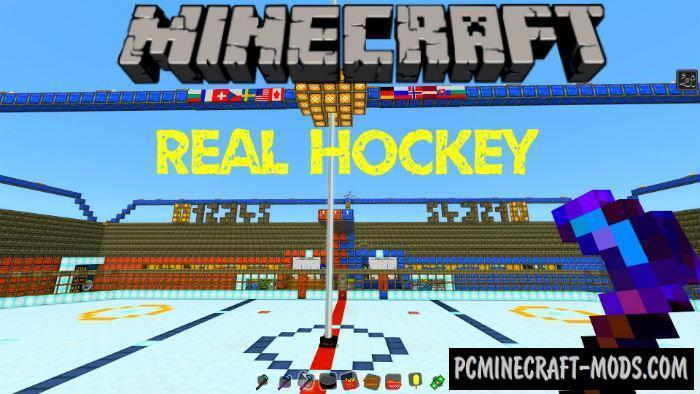 Real Hockey Mini-Game Minecraft PE Bedrock Map 1.4, 1.3