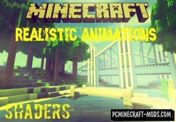 Realistic Animations Shaders Minecraft Mod 1.9.0, 1.8.0, 1.7.0