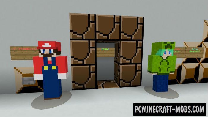 Super Mario Manipulator Minecraft PE Bedrock Map 1.5.0, 1.4.0, 1.2.13